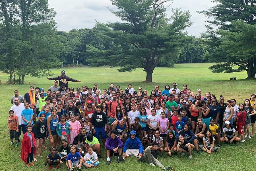 Group photo on Marist Brothers field