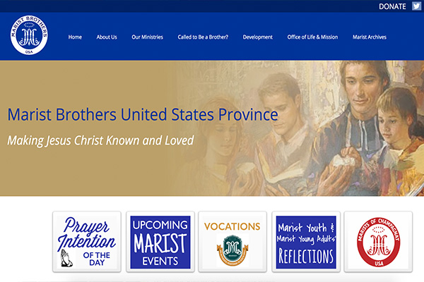 Marist Brothers Province Homepage Preview