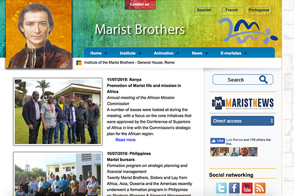 Marist Brothers International Homepage Preview