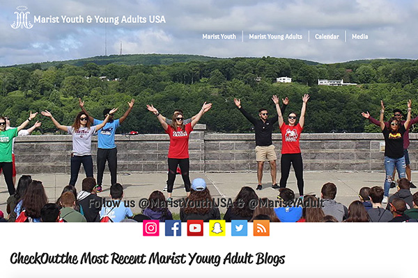 Marist Youth & Young Adult Homepage preview