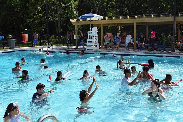 Deaf Camp Pool Gathering