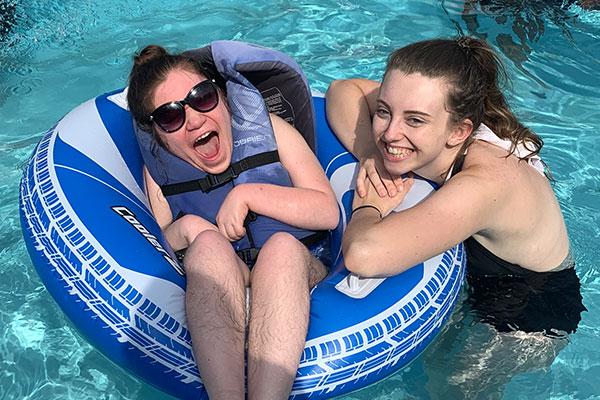 Camper At Pool