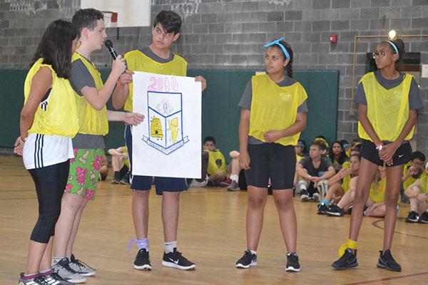 presentation in gymnasium