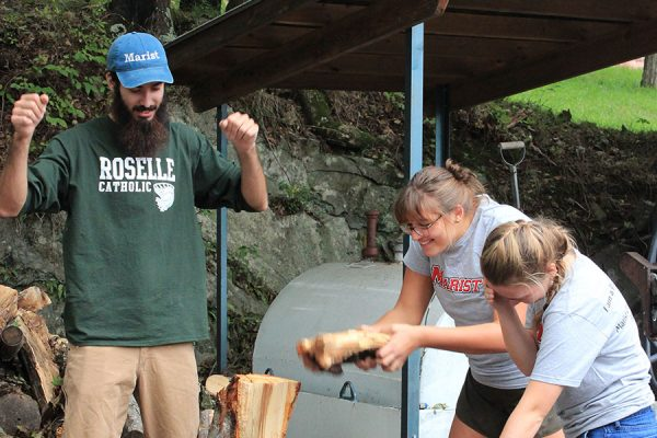 Retreats chopping lumber