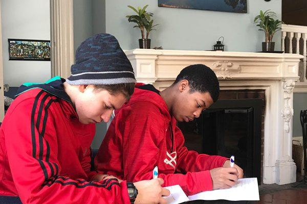 retreat students writing reflections