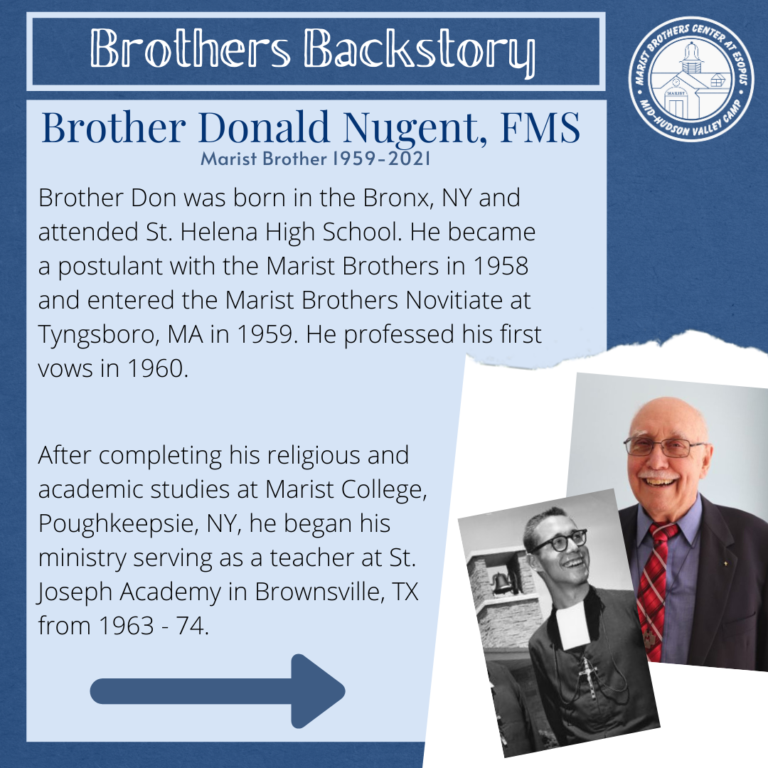 Brother's Backstory - Brother Donald Nugent, FMS